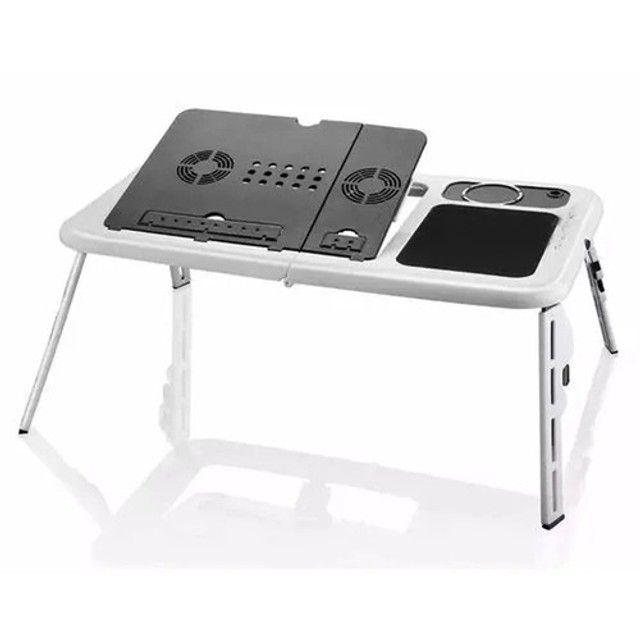 Mesa Para Notebook Dobrável Com Cooler Tomate Mtn-888 - Foto 3