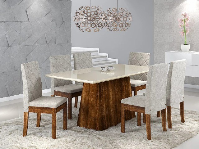 Mesa de Jantar 6 Cadeiras Elegance -- Entrega e montagem Na Hora - Foto 2