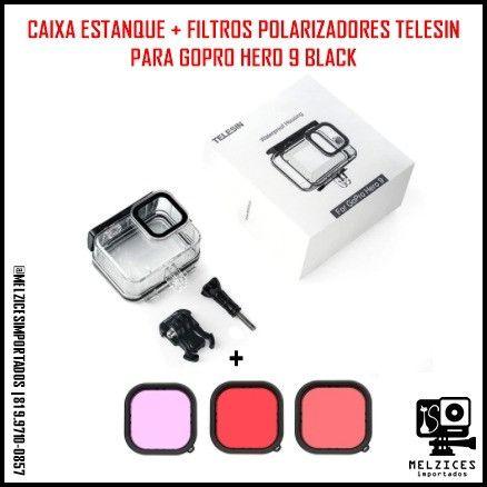 Cx. Estanque + Filtros Polarizadores Telesin Para GoPro Hero 9 Black