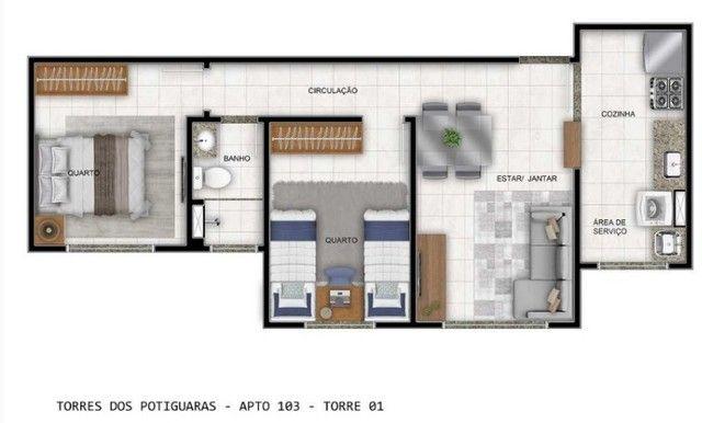 Apartamento em Cidade Satélite - Um/Dois Quartos - 40m²/50m² - Torres dos Potiguaras - Foto 14