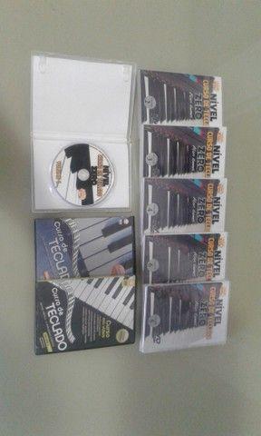 Curso de piano e teclado com 8 DVDs
