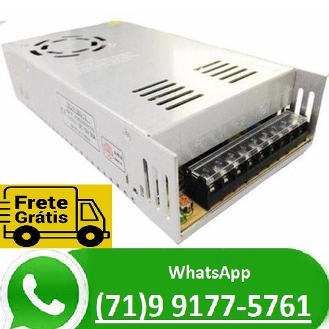 Fonte Chaveada Estabilizada 24v 20a Chave 110v / 220v 500w 24 volts 20 amper (NOVO)