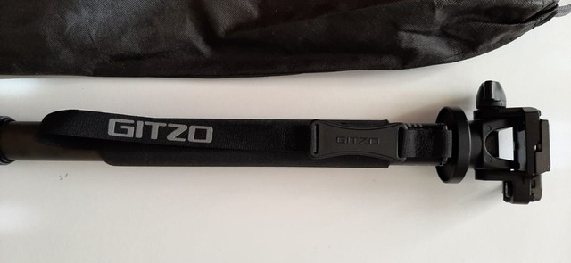 Monopé Gitzo Gm 3551 Fibra De Carbono Com Cabeça Manfrotto - Foto 2