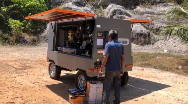 Compressor novo para poço 15 Bar, 550 Pcm, com motor cummins - Foto 4
