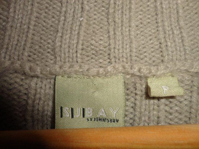 Casaco feminino em lã bege canelado - Foto 4