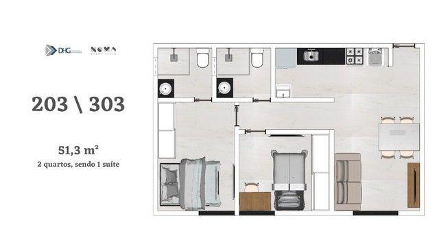Oportunidade nos Bancário - Apartamento com 1 e 2 quartos - Próximo do shopping Sul  - Foto 4