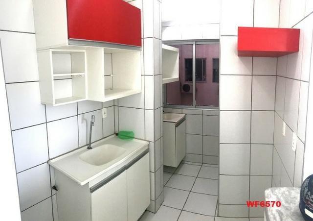 AP1052 Aimará, apartamento com 2 quartos, 1 vaga, condomínio no Cambeba, campo de futebol - Foto 4