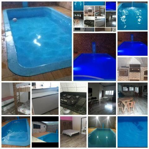 Casa com piscina diária apartir 200