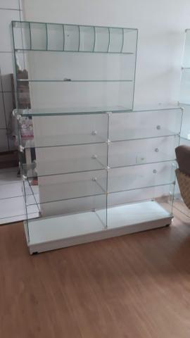 3 vitrines + mesa de vidro - Foto 5