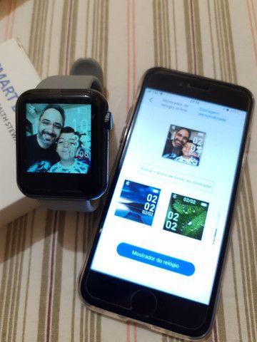 Pra ir Logo !! Smartwatch NOVO!! Pode colocar fotos!! (Aceito Cartão) - Foto 3