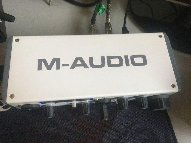 Interface de som m-audio m-trackII - Foto 3
