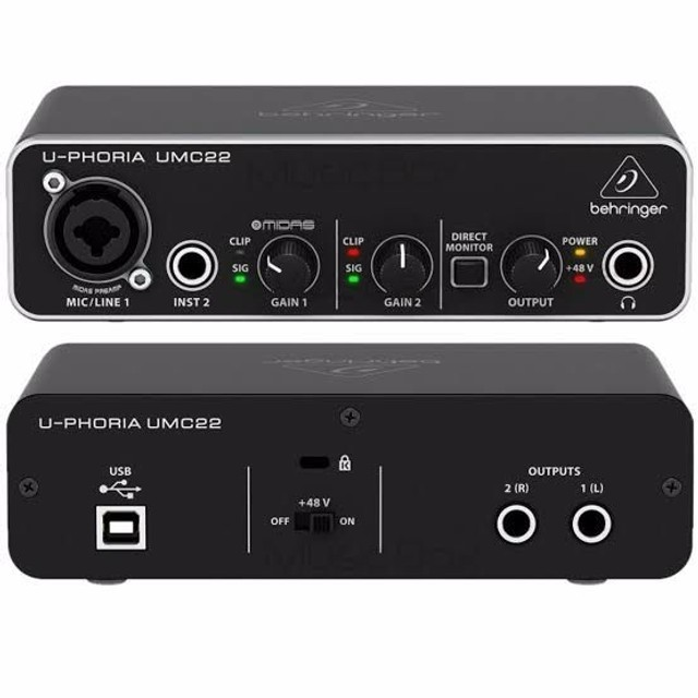 interface de áudio behringer umc22  - Foto 3