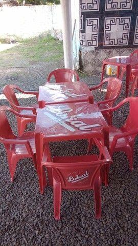 Jogo de mesas e cadeiras  - Foto 3