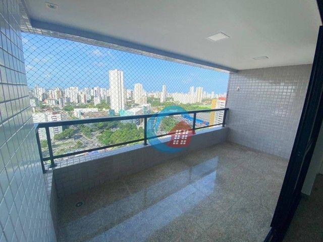 Apartamento com 4 quartos para alugar, 210 m² por R$ 6.500/mês - Casa Forte - Recife/PE