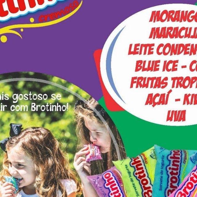 Brotinho - Sorvete de Iogurte Cremoso, 85g com 50unds
