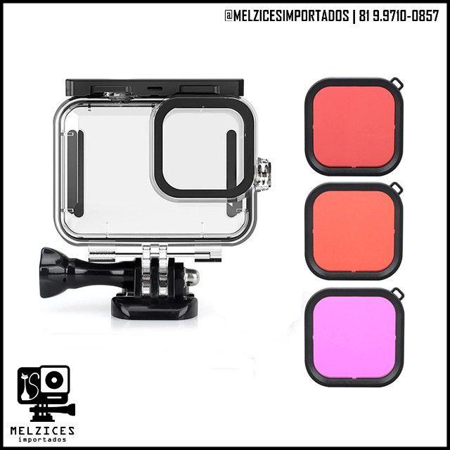 Cx. Estanque + Filtros Polarizadores Telesin Para GoPro Hero 9 Black - Foto 3