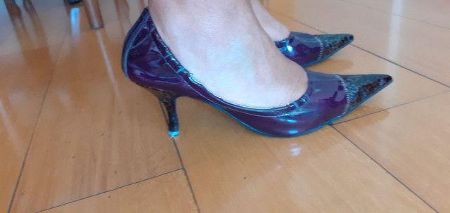Sapato de salto com elástico  - Foto 2