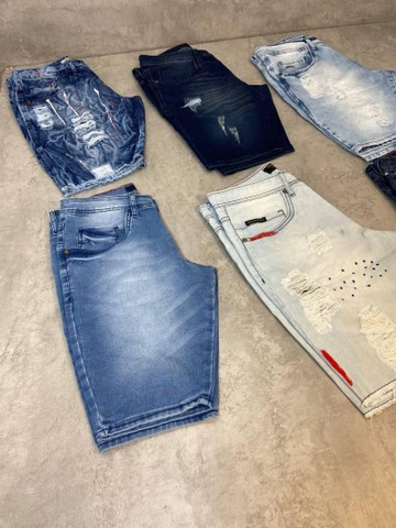 Bermudas Jeans Grife - Foto 3