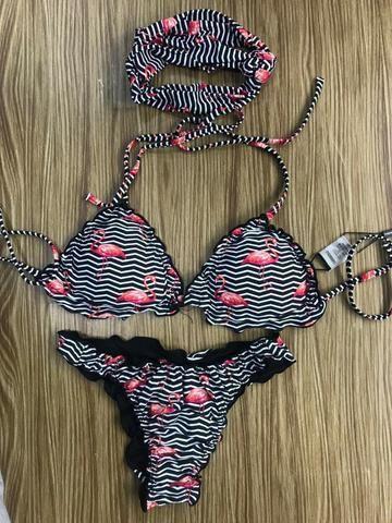 543e9e3ec3ce5 Biquíni Flamingos Moda Praia Verão 2019 Novo - Roupas e calçados ...