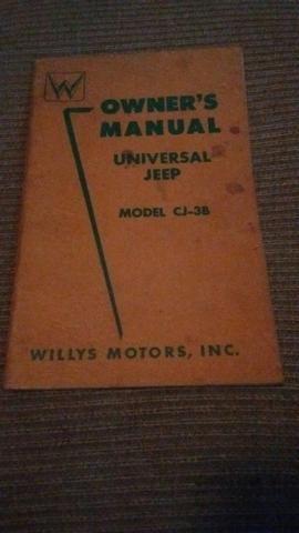 Manual jeep willis CJ3B