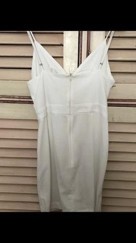 Vestido Farm Branco Tamanho G Pouco Uso