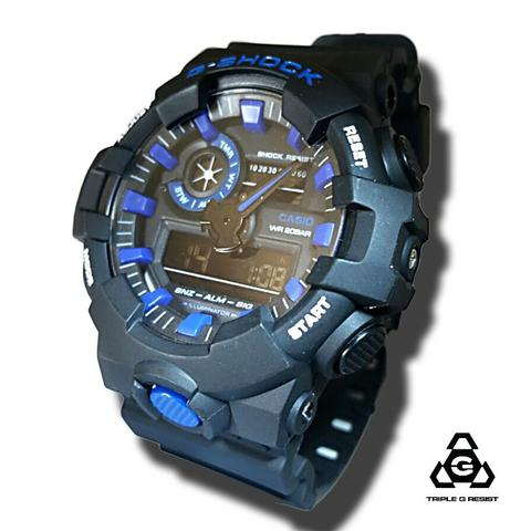 4f07e58d370 Relógio g-shock Automático Analógico e digital 100% funcional azul  (Promoção)