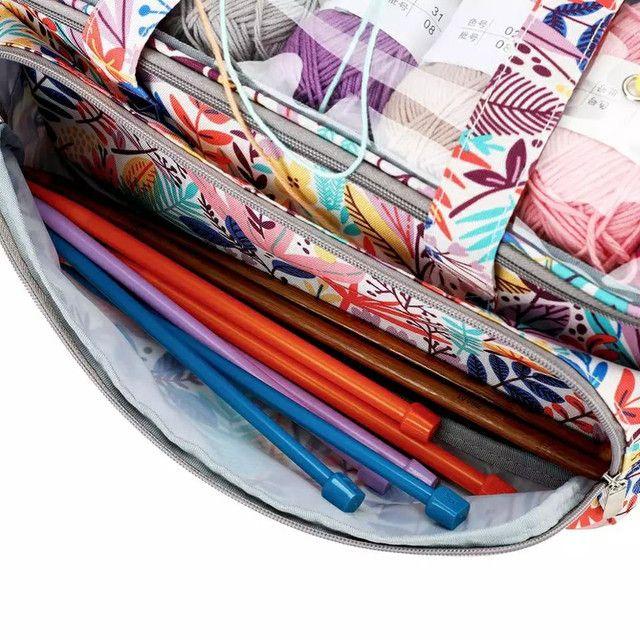 Bolsa  para guardar  as agulhas de crochê  - Foto 2