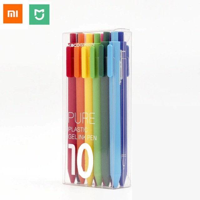 Xiaomi Kit com 10 canetas gel 0.5mm Kakogreen