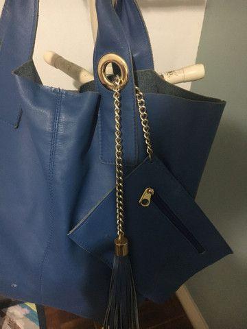 Bolsa de couro legítimo - Foto 4