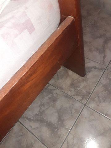 Cama de madeira com colchão, (PECHINCHA) - Foto 3