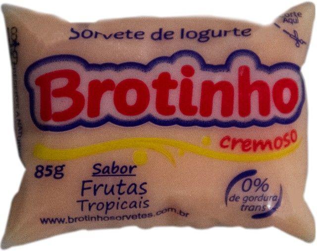 Brotinho - Sorvete de Iogurte Cremoso, 85g com 50unds - Foto 6