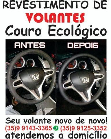 Revestimento e restauração de volantes em couro ecológico. - Foto 3