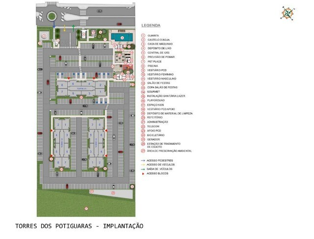 Apartamento em Cidade Satélite - Um/Dois Quartos - 40m²/50m² - Torres dos Potiguaras - Foto 11