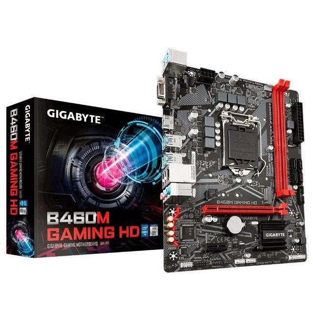 Placa-Mãe Gigabyte B460M Gaming HD, Intel LGA 1200, mATX, DDR4 - Loja Natan Abreu  - Foto 2