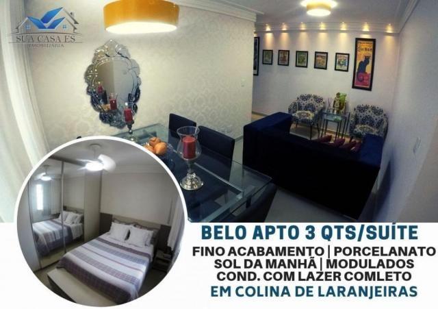 Apartamento à venda com 3 dormitórios em Colina de laranjeiras, Serra cod:AP184LE