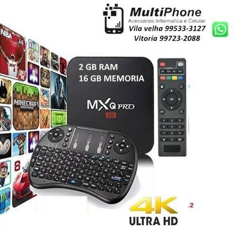 Tv box mxq pro + mini teclado smart multifunção