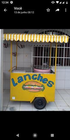 Carrinho de lanche + Estufa - R$ 3400
