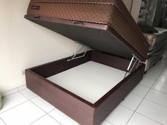 Cama Box Baú Casal + Colchão Palemax Molas Ensacadas - Pronta Entrega! - Foto 5