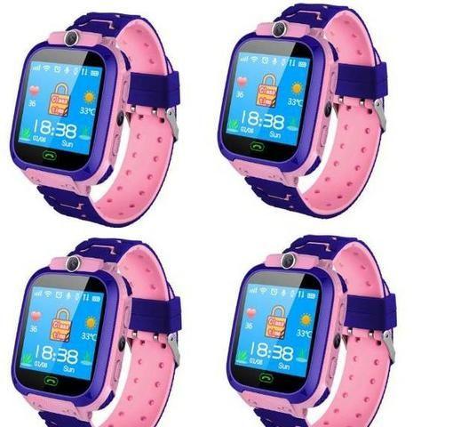 Kids GPS Watch Phone, Relógio Inteligente p/ Crianças C/ GPS