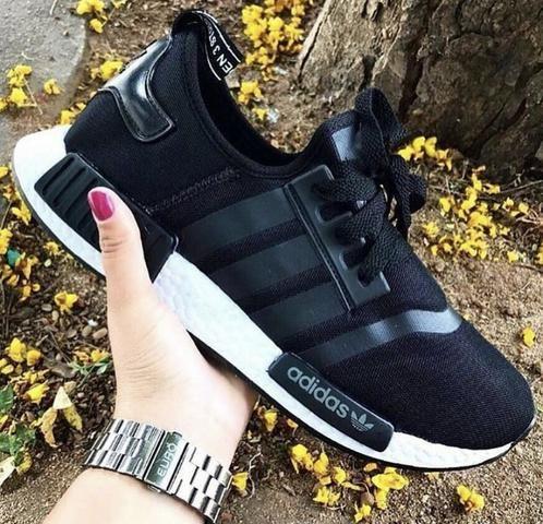 Tênis Adidas NMD primeira linha Masculino Academia Esportes Caminhada  Corrida Confortável 9036d81b4e563