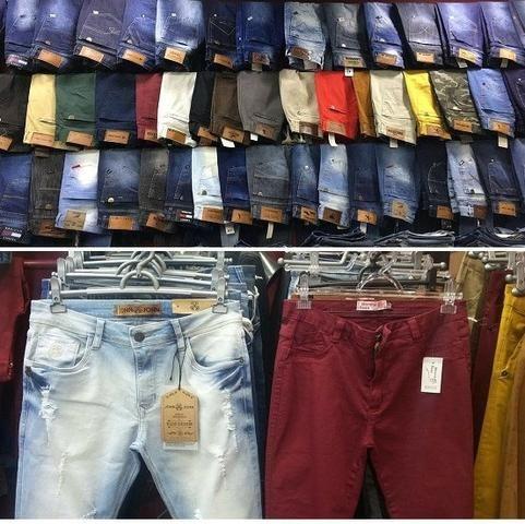 6496a1739f0dbe 20 Peças - Calças Jeans Masculinas Marcas Famosas Frete Grátis
