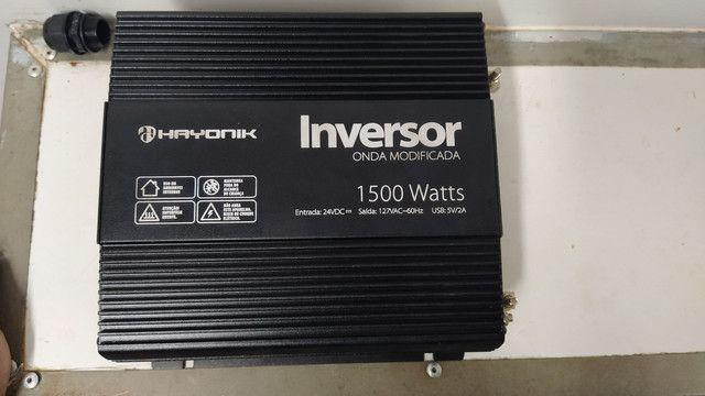 Inversor 1500watts, AC 12 ou 24vdc/127v - Hayonik - Foto 3