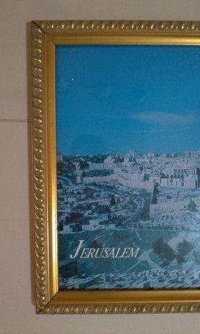 Quadro Com Foto Panorâmica De Jerusalém 1995 Original do Oriente Médio - Foto 2