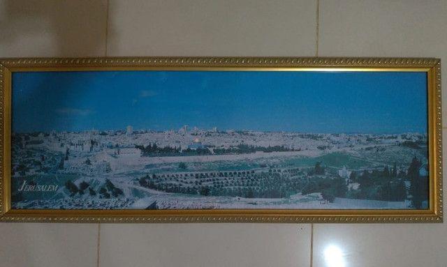 Quadro Com Foto Panorâmica De Jerusalém 1995 Original do Oriente Médio