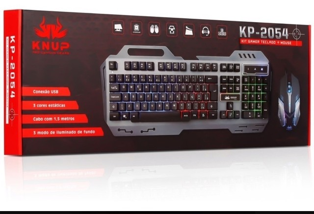 Teclado e mouse Gamer Knup KP-2054 - Foto 3