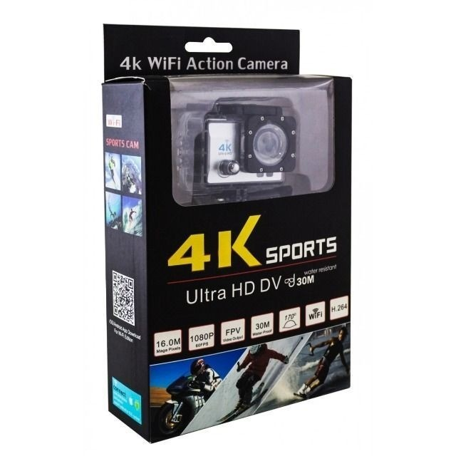 Action Câmera Digital Sport 4k 1080p Case A Prova Dágua Wifi - Foto 4
