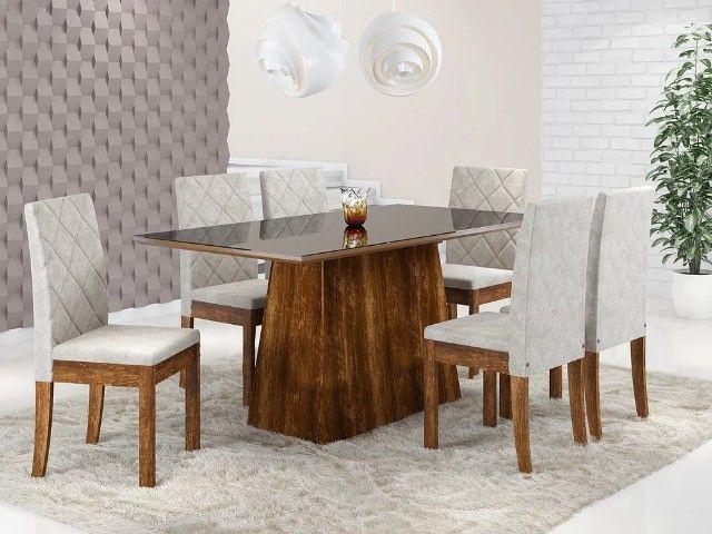 Mesa de Jantar 6 Cadeiras Elegance -- Entrega e montagem Na Hora
