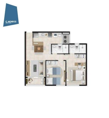 Apartamento com 2 dormitórios à venda, 56 m² por R$ 374.749,10 - Benfica - Fortaleza/CE - Foto 4