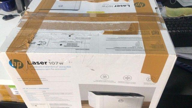 Impressora Hp 107w Com Wifi 110v Branca E Preta - Foto 5