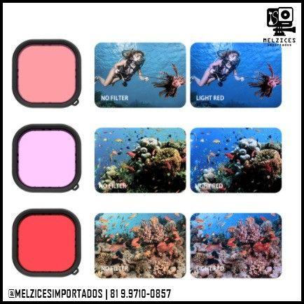 Cx. Estanque + Filtros Polarizadores Telesin Para GoPro Hero 9 Black - Foto 2